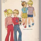 Toddlers' and Child's Pants in Two Lengths and Top Simplicity #9948 Sewing Pattern