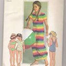 Child's Bathing-suit and Cover-up in Two Lengths Simplicity #7506 Sewing Pattern