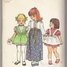 Toddlers' Dress in Two Lengths and Apron Simplicity #5333 Sewing Pattern