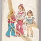 Child's Top, Bell-Bottom Pants and Shorts Simplicity #6301 Sewing Pattern