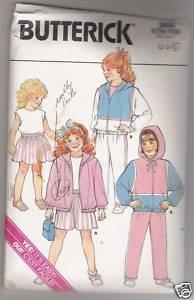 Children's Jacket, Skirt, Pants & Top Butterick #3650 Sewing Pattern