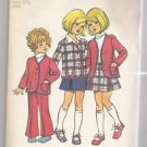 Child's Cardigan Jacket, Skirt and Bell-Bottom Pants Simplicity #5278 Sewing Pattern