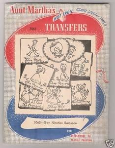 Gay Nineties Romance Hot Iron Transfers Aunt Martha's #3062