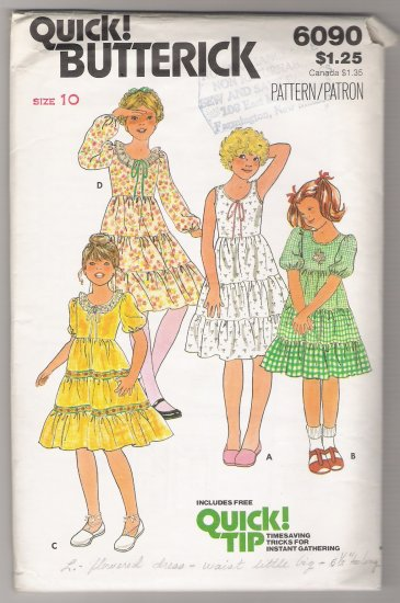Girls' Dress Butterick #6090 Sewing Pattern