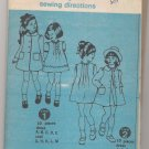 Girls' Dress and Coat Simplicity #6182 Sewing Pattern