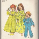 Child's Robe, Nightgown and Pajamas Simplicity #6687  Sewing Pattern