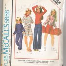 Girls' Top, Skirts and Pants with Alphabet Guide  McCall's #5658 Sewing Patterns