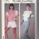 Misses' Pullover Top and Pull-on Pants or Shorts Simplicity #6906 Sewing Pattern