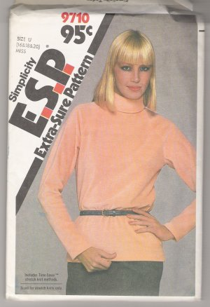 Misses' Top Simplicity #9710 Sewing Pattern