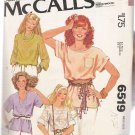 Misses' Set of T-shirts McCall's #6519 Sewing Pattern