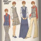 Incomplete Misses' Vest, Skirt & Pants Butterick #3977 Sewing Pattern