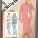 Misses' Pull-on Skirt, Pants, Pullover Top and Unlined Jacket Simplicity #9857 Sewing Pattern