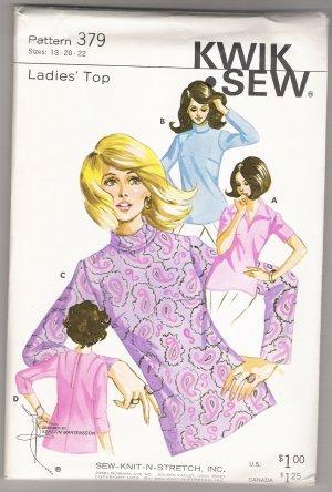 Ladies' Top Sew-Knit-N-Stretch #379 Sewing Pattern