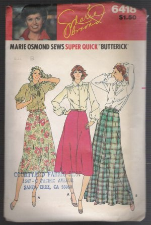 Misses' Skirt Butterick #6418 Sewing Pattern