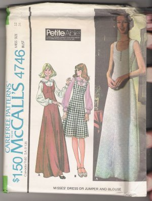 Misses' Dress or Jumper and Blouse McCall's Sewing Pattern #4746