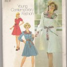 Misses' Dress in Two Lengths Simplicity Sewing Pattern #7130