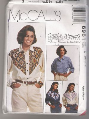 Misses' Shirts McCall's #6961 Sewing Pattern