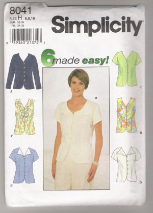 Misses' Blouse Simplicity #8041 Sewing Pattern