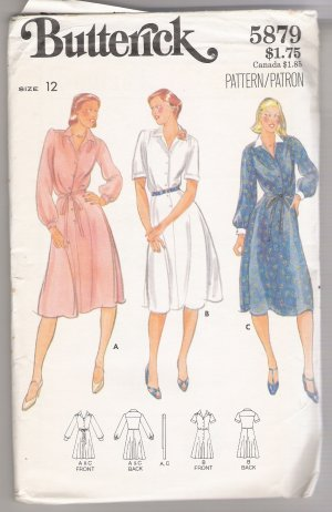 Misses' Dress Butterick #5879 Sewing Pattern