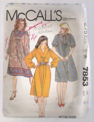Misses' and Junior Petite Dress McCall's #7853 Sewing Pattern