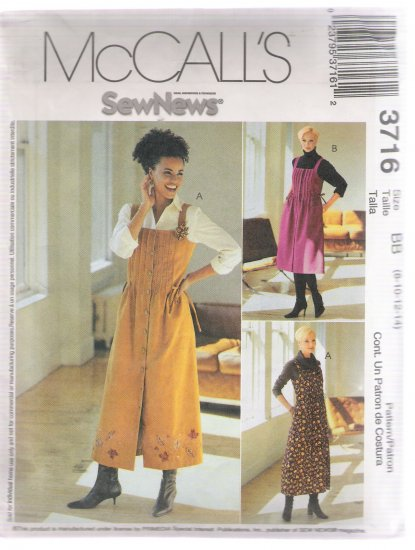 Misses' / Miss Petite Jumper in Two Lengths, McCall's #3716 Sewing Pattern