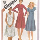 MIsses' Dress with Neckline Variations Simplicity #5164 Sewing Pattern