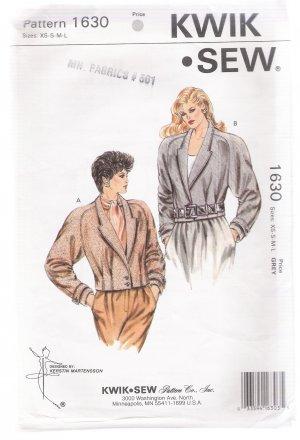 Misses' Jackets Kwik Sew #1630 Sewing Pattern
