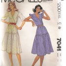 Misses' and Junior Petite Dress McCall's #7041 Sewing Pattern