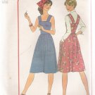 Misses' Dress or Jumper Simplicity #7580 Sewing Pattern