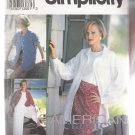 Misses' Split Skirt in Two Lengths and Shirt-Jacket Simplicity #8236 Sewing Pattern