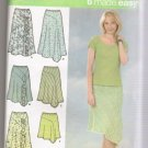 Misses' Bias Skirts with Length Variations Simplicity #4593 Sewing Pattern