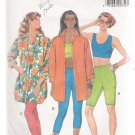 Misses' Shirt, Top, Shorts & Leggings Butterick #4933 Sewing Pattern