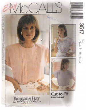 Misses' Blouses McCall's #3517 Sewing Pattern