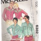 Misses' Shirt McCall's #6382 Sewing Pattern