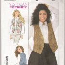 Misses' Lined Vest Simplicity #9476 Sewing Pattern