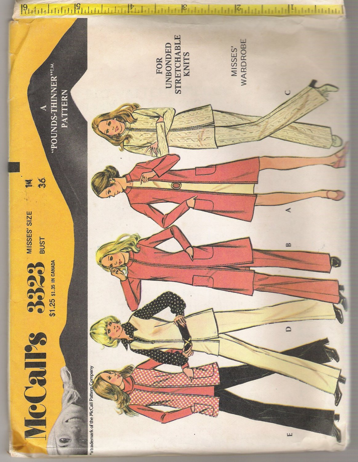 Misses' Wardrobe McCall #3323 Sewing Pattern
