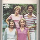 Misses' T-Shirts Butterick #4614 Sewing Pattern