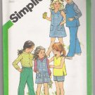 Child's Dress, Jumper or Top, Shirt & Pull-on or Shorts Simplicity #5120 Sewing Pattern