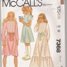Girls' Dress McCall's #7368 Sewing Pattern
