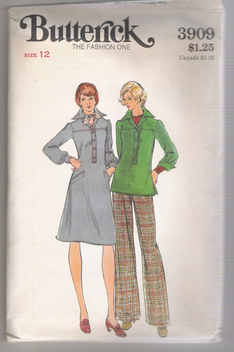 Misses' Dress, Top & Pants Butterick #3909 Sewing Pattern