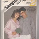 Misses' and Men's Pullover Hooded Sweatshirt Simplicity #6279 Sewing Pattern