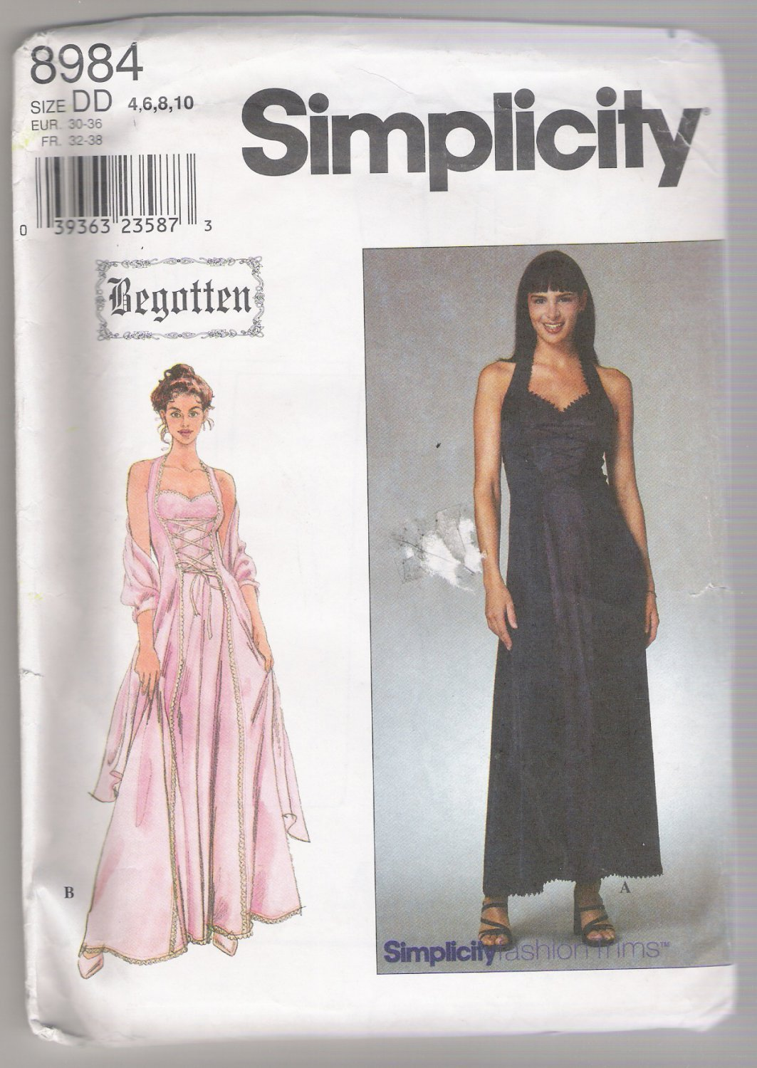Misses' / Miss Petite Dress and Shawl Simplicity #8984 Sewing Pattern