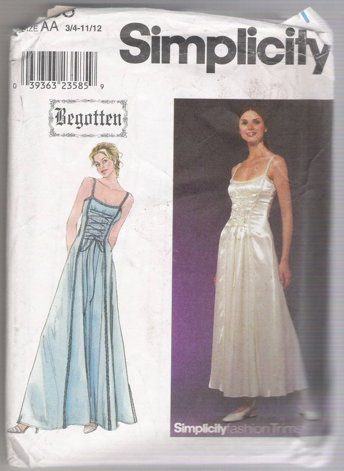 Juniors' and Misses' Dress Simplicity #8983 Sewing Pattern