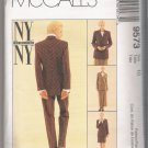 Misses' Lined Jacket, Lined Skirt in Two Lengths and Pants McCall's #9573 Sewing Pattern