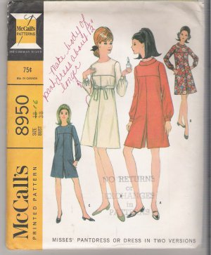 Misses' Pantdress or Dress in Two Versions McCall's #8950 Sewing Pattern