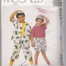 Children's Shirt, T-Shirt, Shorts, Duffle Bag and Hat McCall's #6553 Sewing Pattern