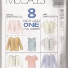 Misses' Top and Jacket McCall's #8155 Sewing Pattern