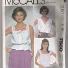 Misses' Camisole McCall's #7580 Sewing Pattern