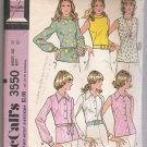 Misses' Set of Blouses McCall's #3550 Sewing Pattern