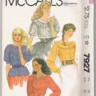 Misses' and Young Junior / Teen Tops McCall's #7927 Sewing Pattern
